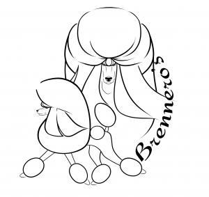 Brennero's Liebhaberzucht schwarzer und weißer Großpudel